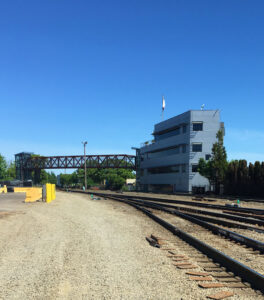 Brooklyn switchyard tower provides an overview of safe rail switchyard activities and provides visuals for automated rail yard software which assists in the train building execution.