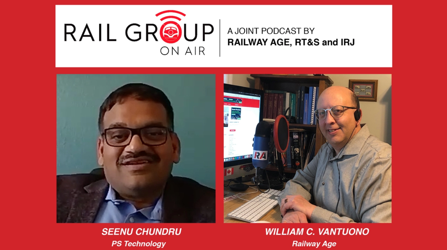 Railway Age Podcast with Seenu Chundru about Precision Train Builder
