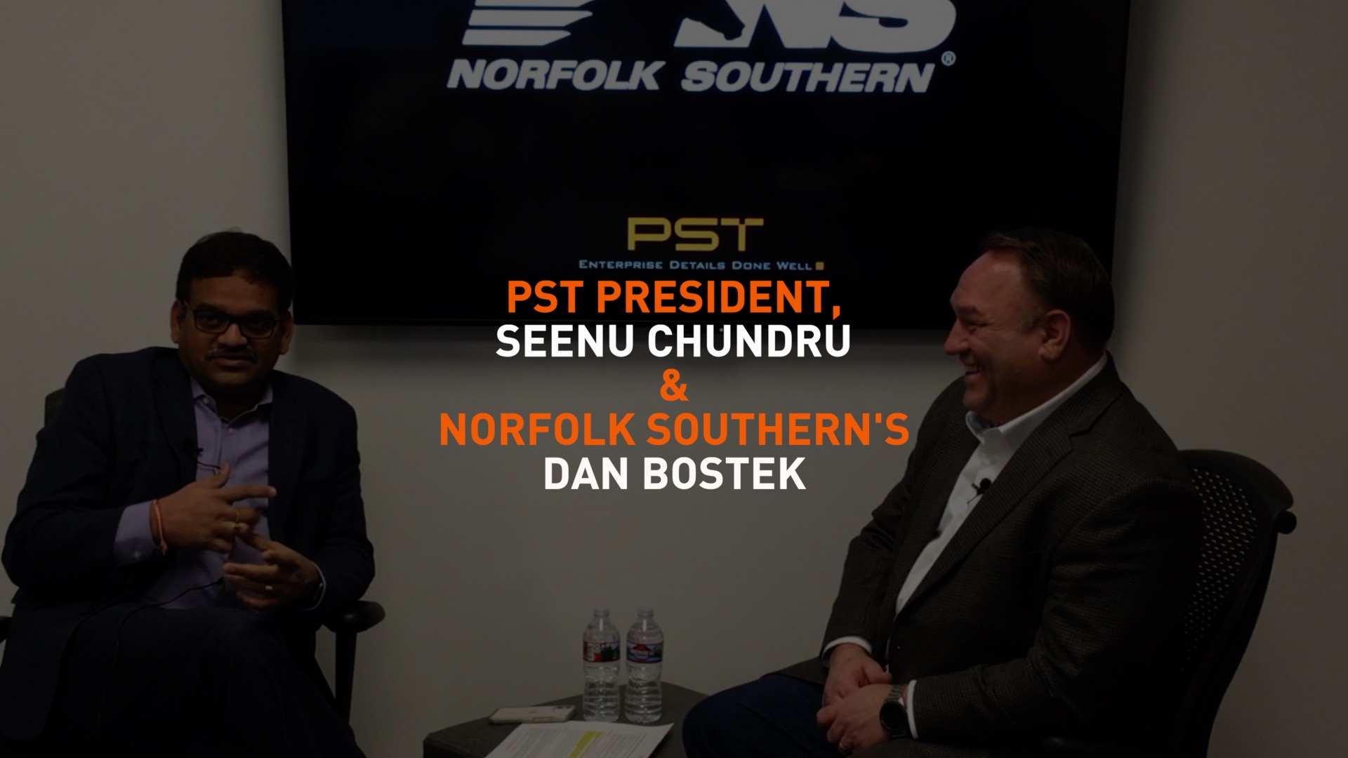 Fireside Chat with Norfolk Southern's Dan Bostek and PST's Seenu Chundru